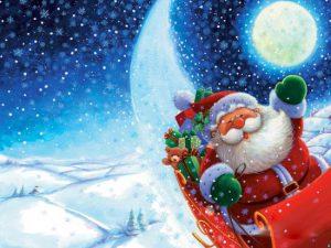 Рисунок Дед Мороз, открытка