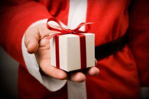 дед мороз, рука, подарок