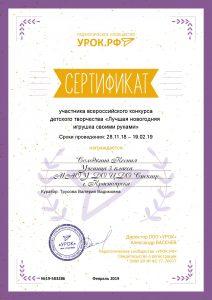 сертификат солодкин ксюша.